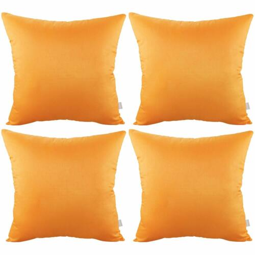 4-Pack 100/% Cotton Comfortable Solid Decorative Throw Pillow Case Square Cushion