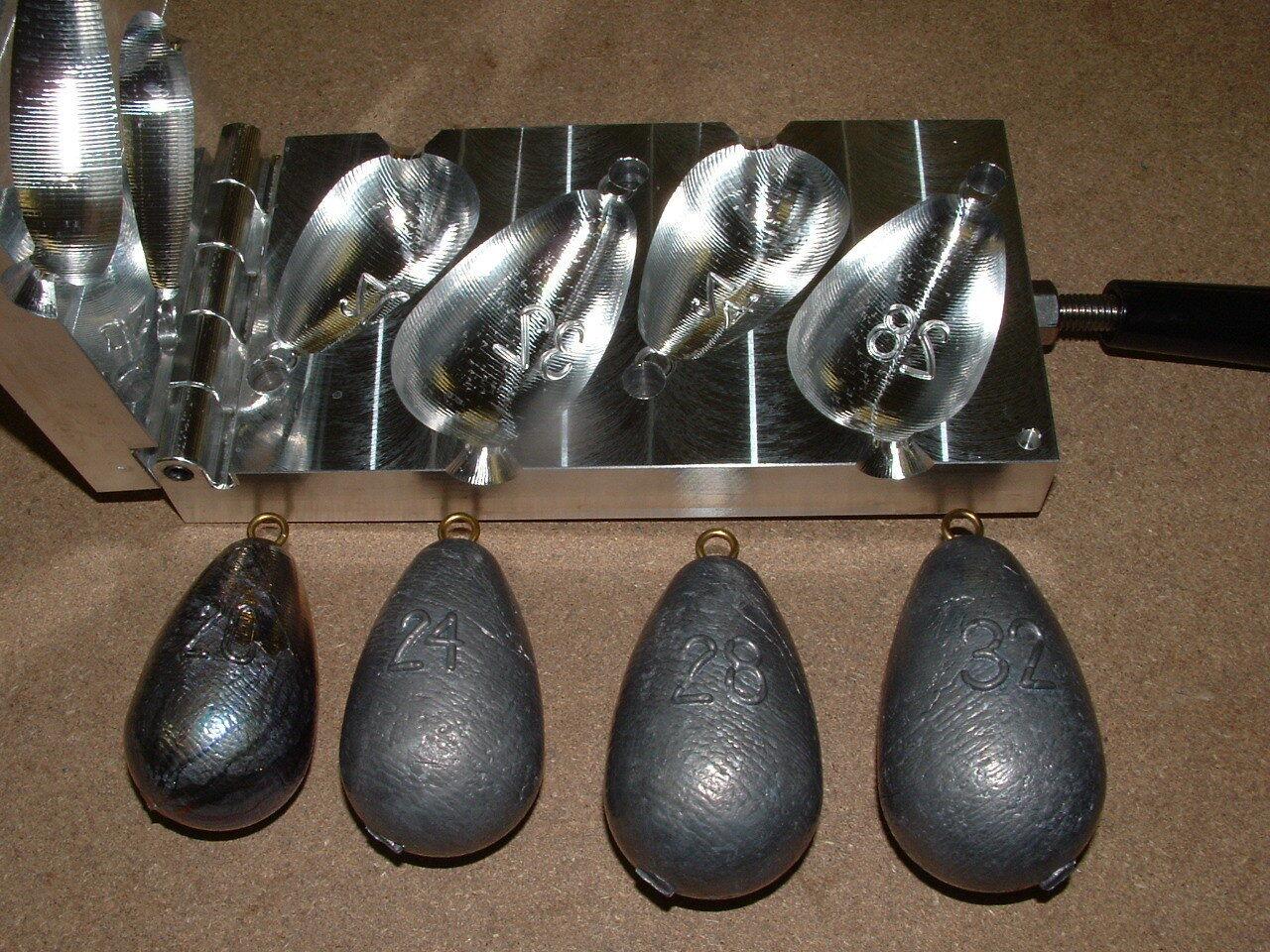 Saltwater Bel Sinker mold 20,24,28,32oz CNC Aluminum Wireline Trolling  Bell  online retailers