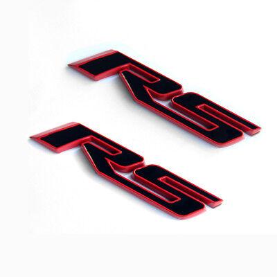2x GENUINE  LT Nameplate Letter Emblem Badge Redline Chevrolet Red line Fu