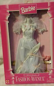 Barbie Fashion Avenue Bridal White Dress Parasol 1996 Mattel #15897