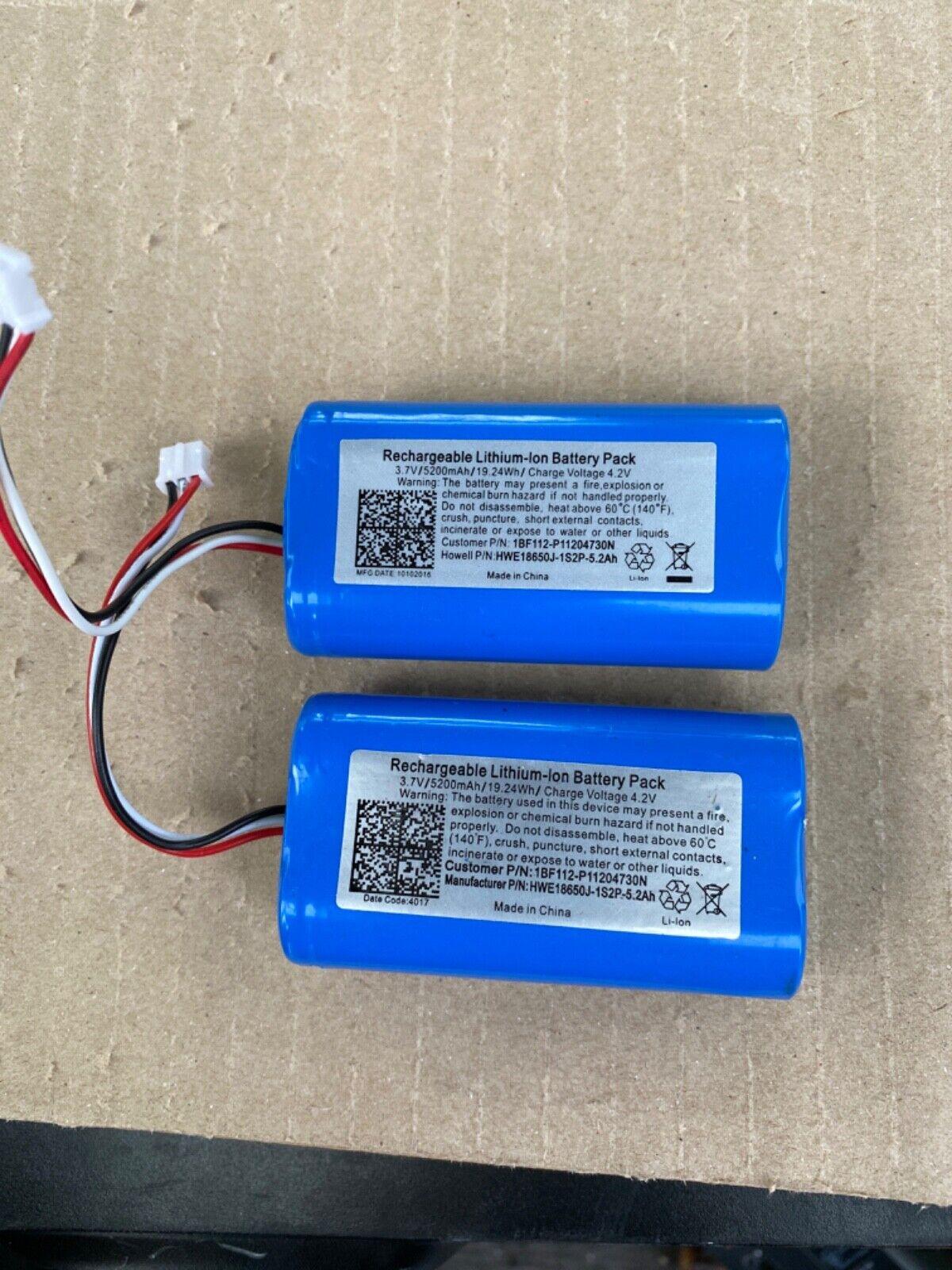 (2) pack Rechargable Lithium Battery Pack 3.7V/5200mAh/19.24Wh