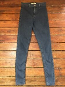 new style purchase cheap boy Details about Topshop Moto Skinny Jeans Joni Belt Loop Blue Sz 12 W30 To  fit L30 T~30 Defects