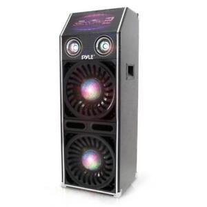 Pyle-PSUFM1070P-Disco-Jam-2-Passive-Powered-Speaker-System-Flashing-DJ-Lights