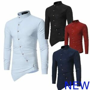 Top-Casual-Mens-Slim-Fit-Long-Sleeve-Shirt-Floral-Luxury-Dress-Shirts-Stylish