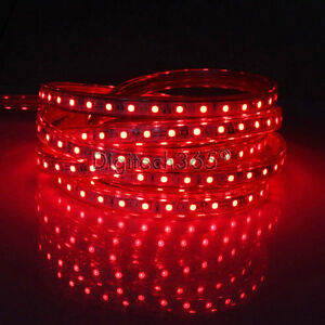 SMD3014-Luces-de-cinta-tira-LED-flexible-AC220V-60-LED-m-impermeable-Rojo