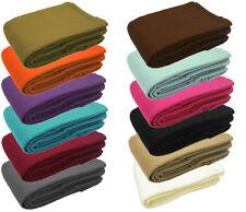 Warm Soft Fleece Sofa Single Double Bed Blanket Travel Car Throw 125cm x 150cm