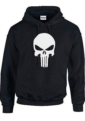 Marvel Comics Punisher Men's Heather Gray Punisher Hoodie