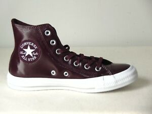 262cb2559 Converse CTAS Hi Leather Sneakers Sangria Dark Sangria Size  Women-7 ...
