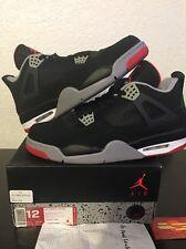 "Nike Air Jordan 4 Retro ""Bred"" 2012 Style # 308497-089 - Size 12"