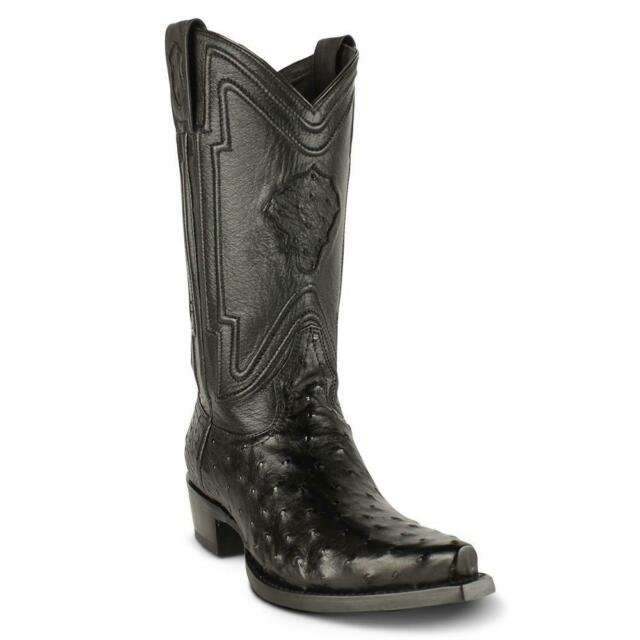 12f41b17e46 Men's Yeehaw Cowboy Ostrich Boots Snip Toe Handcrafted