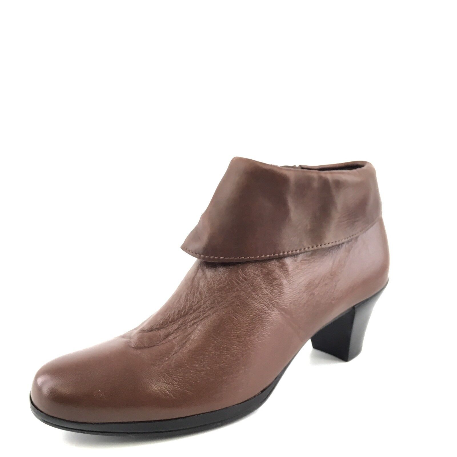 Munro American Grace Brown Leather Ankle Boots Womens Size 6 M*