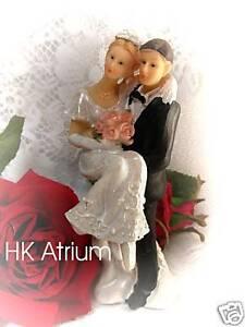 Sonderangebot-Tortenaufsatz-Brautpaar-Hochzeitspaar-Tischdekoration-13cm