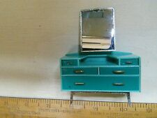Vintage dolls house blue spot on TRI-ANG​  dressing table 1960s 1/16th