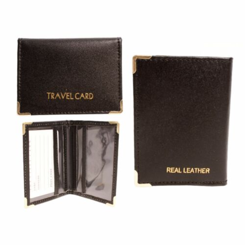 LORENZ Durable Smooth Leather Travel Card Bus Pass Holder Various Colours