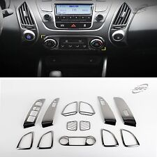Black Chrome Interior Garnish Molding Fit 2010 - 2013 For Hyundai Tucson ix35