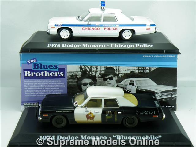 blueES BredHERS blueESMOBILE & POLICE CAR GIFT SET 1 43 SIZE MODEL GREENLIGHT T34Z