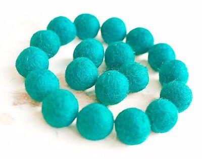 2.5cm BLUE Felt Balls x20.Wool.Party Decor.Pom poms.Felt Ball.Wholesale.