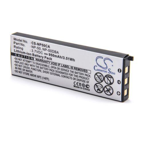 EX-V7SR EX-V8SR EX-V8 Bateria 950mAh para Casio Exilim EX-V7