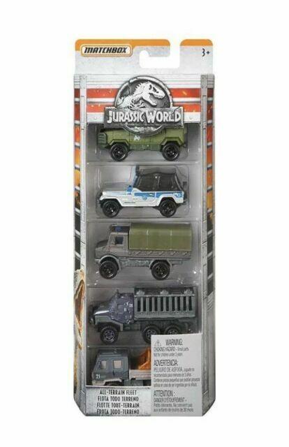 New Matchbox Jurassic World Die-cast 5-Pack Assortment