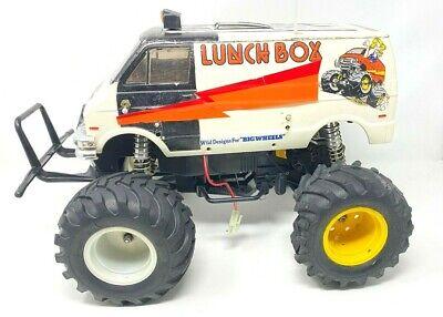Vintage 1 12 Tamiya Lunch Box 2wd Rc Car Monster Truck Van Lights Upgraded Motor Ebay