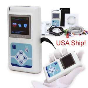 Tragbare-12-Kanal-24H-EKG-EKG-Holter-analysieren-System-Recorder-TLC5000-Contec-USA