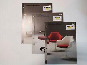KNOLL 1982 - Saarinen / Sapper / Pollock Collection - 3x flyer brochure