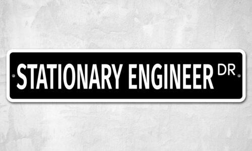 "7524 SS Stationary Engineer 4/"" x 18/"" Novelty Street Sign Aluminum"