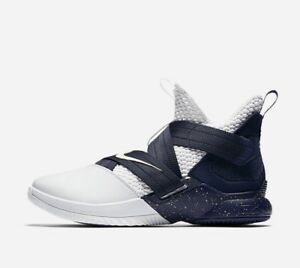 58bbbb6274ac Nike Lebron James Soldier XII 12 OG 25 Straight Midnight Navy White ...