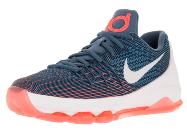 f21d0b0537df Nike 7y Kevin Durant KD 8 GS Basketball Shoes Ocean Fog Navy 768867 ...
