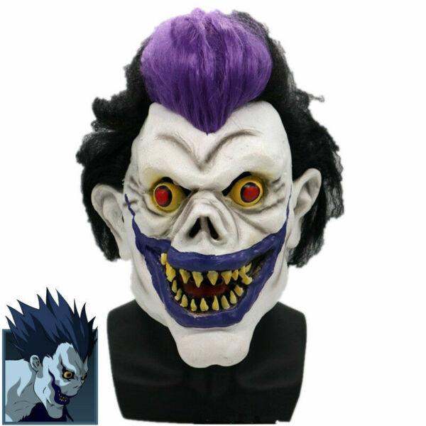 Death Note Ryuuku Ryuk Cosplay Mask Paty Clown Horror Latex