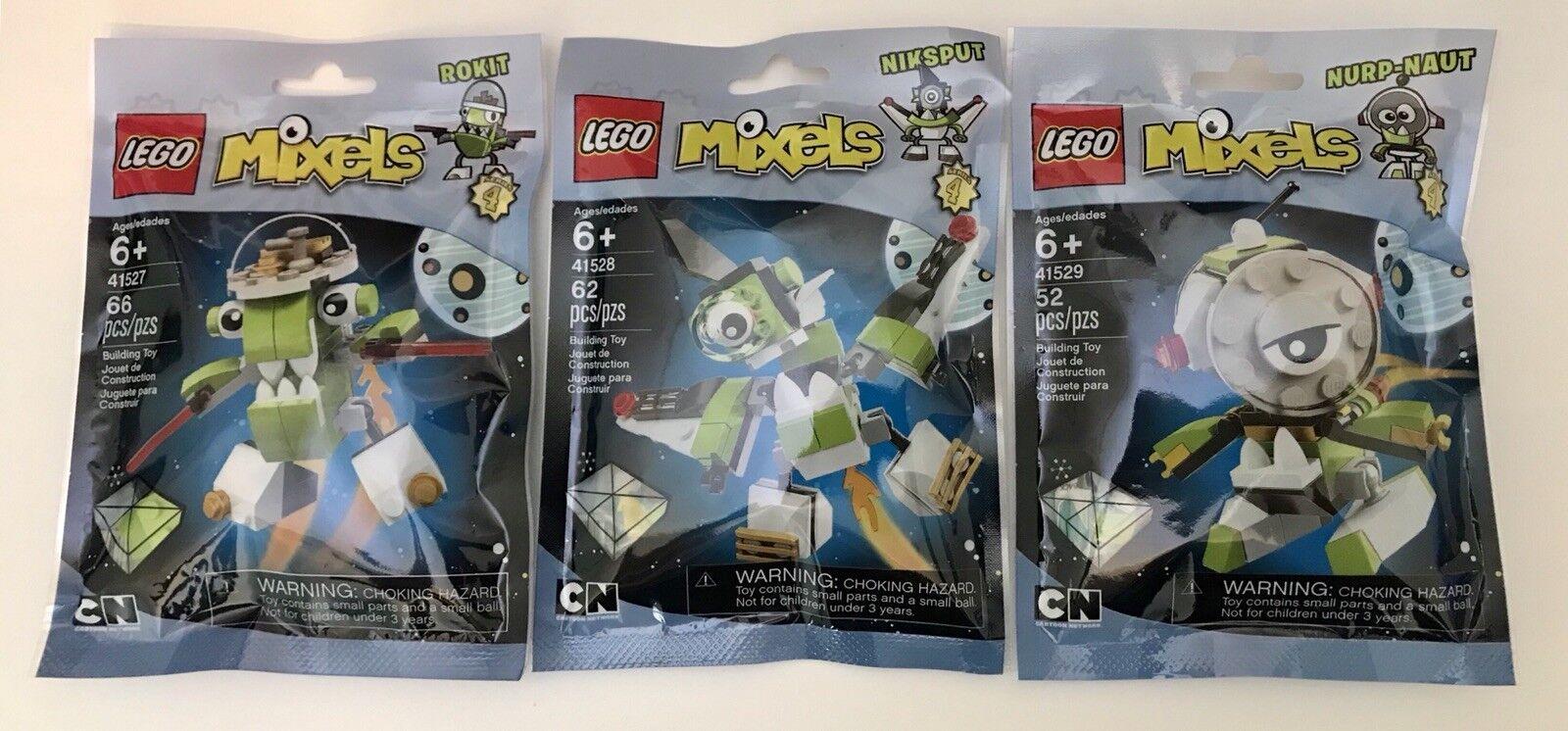 NEW LEGO Mixels Series 4 Rokit Niksput Nurp-Naut MAX ORBITONS 41529 41528 41527