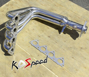 For 99-00 HONDA CIVIC SI EM1 B16A2 STAINLESS STEEL EXHAUST CHROME HEADER+GASKET
