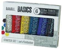 Liquitex Basics Acrylic Paint Tube 4 Oz, 6-piece Set , New, Free Shipping on sale
