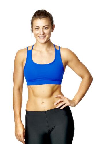 Women Sports Stretch Bra Designer Strappy Cross Back Gym Active Fitness Running