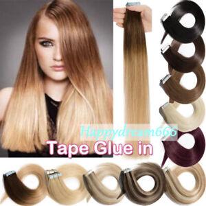 Extensions-de-cheveux-naturels-Bandeau-ADHESIVES-BANDES-TAPE-REMY-HAIR-40-60-CM