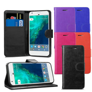 For-Google-Pixel-2-XL-Premium-Leather-Wallet-Flip-Case-Cover-Protector