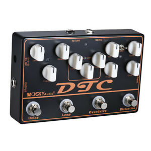 Multi-Guitar-Effects-Pedal-Delay-Overdrive-Distortion-FX-Loop-Mosky-4-in-1-shell