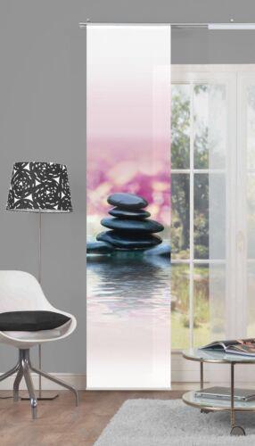 Barre rideau opaque digital pression pierres noir rose 60cm x 245cm