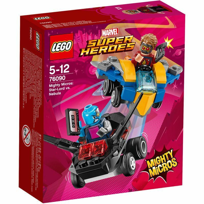 LEGO Marvel 76090 Super Heroes Mighty Micros  Star-Lord Vs. Nebula 86 Pieces 5+