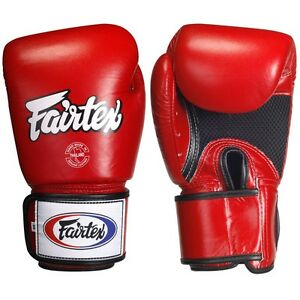 NEW! Fairtex Boxing Gloves - Red - 16 oz - Muay Thai Kickboxing + FREE Handwraps