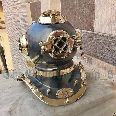 Vintage Mini Diving Divers Helmet Nautical U.S Navy Scuba Helmet Copper /& Brass