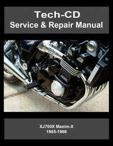 yamaha xj700x maxim x service repair manual xj700 x maximx 1985 rh ebay com