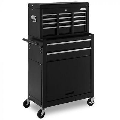 New Heavy Duty High Capacity Tool Chest Box Storage Drawer Cabinet Black Ebay