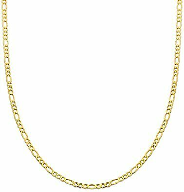 """10K Solid Yellow Gold Cuban Link Chain Necklace 16/"""" 30/"""" Men/'s Women 1.5mm"""