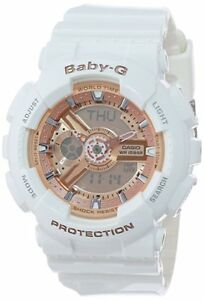 BRAND-NEW-Casio-G-Shock-Baby-G-BA110-7A1CR-White-Rose-Analog-Digital-Watch