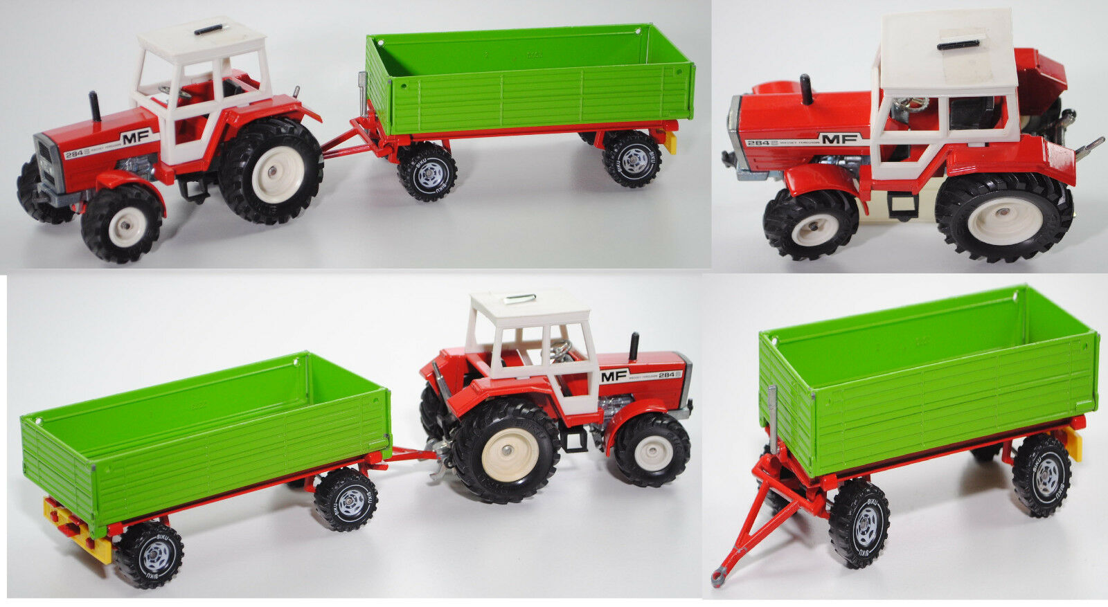 SIKU FARMER 3750 Massey Ferguson MF 284 S Tracteur avec zweiachs-remorque, 1 32