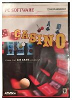 Activision Casino (pc) Brand Sealed - Free U.s. Ship - 139 Games Variations