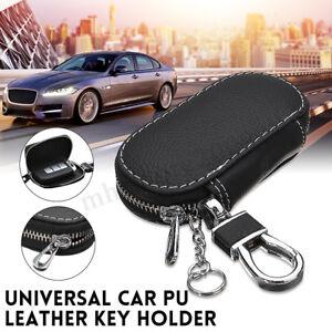 Universal Car Pu Leather Smart Remote Key Holder Bag Case Cover Fob