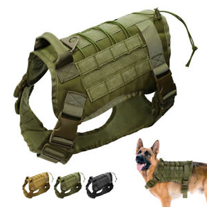 Tactical Military Big Dog Harness Large Dog Training Vest for Working Dogs