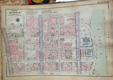 1925 INWOOD 184TH-193RD STREET MANHATTAN NYC G.W. BROMLEY ATLAS MAP 12X17